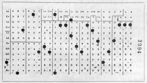 A Punched Card